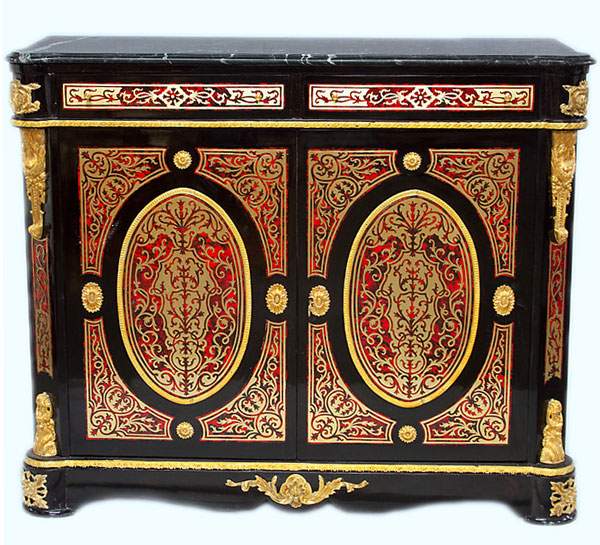 buffet armoire style napoleon iii bibliotheque marqueterie boulle commode ebay. Black Bedroom Furniture Sets. Home Design Ideas