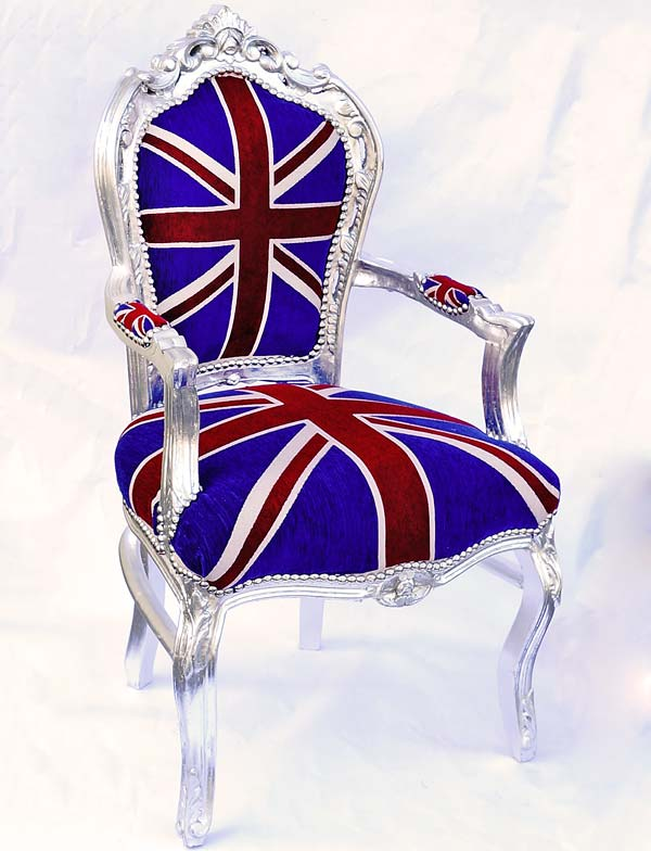 Very british baroque chair union jack armchair antique for Sessel union jack
