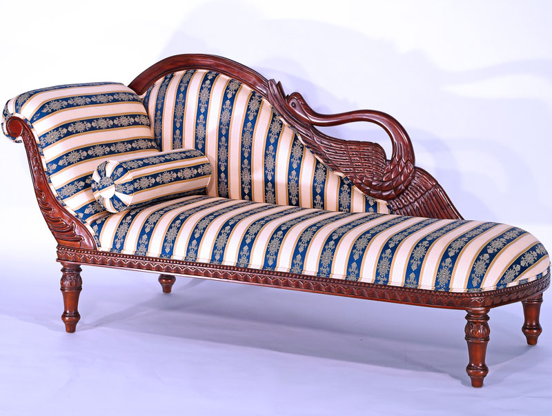 mahagoni sofa chaiselongue schwanenhals recamiere empire tagesbett kanapee m bel ebay. Black Bedroom Furniture Sets. Home Design Ideas