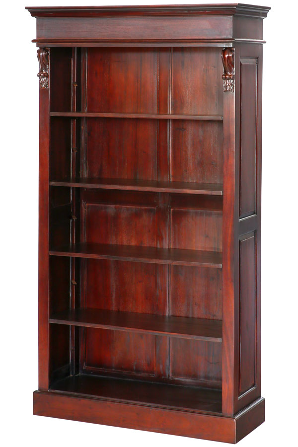 bibliotheque etagere style empire napoleon en acajou massif brun ebay. Black Bedroom Furniture Sets. Home Design Ideas