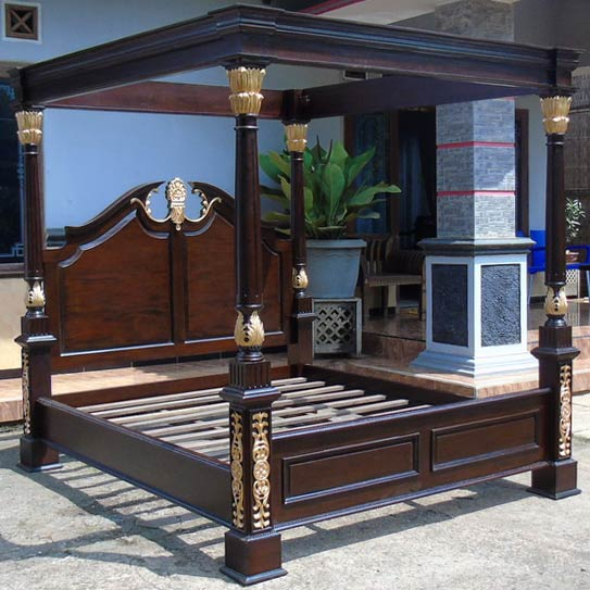 continental king size bett mahagoni schlafzimmer bett doppelbett ebay. Black Bedroom Furniture Sets. Home Design Ideas