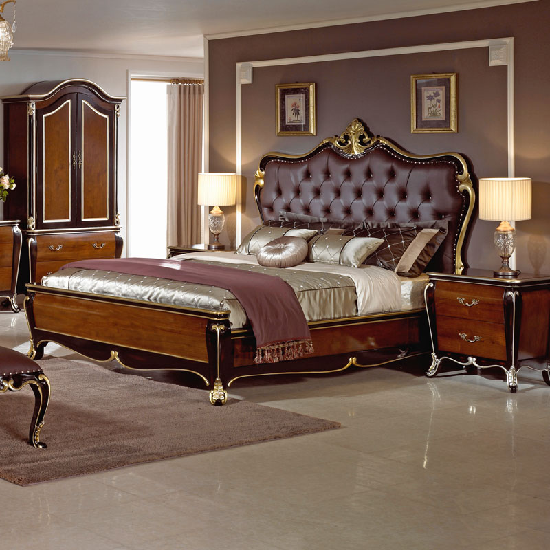 grand suite mahagoni king size bett 5 premium schlafzimmer bett ebay. Black Bedroom Furniture Sets. Home Design Ideas
