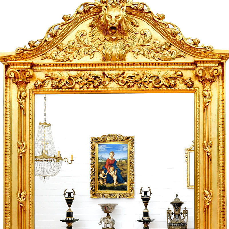 grand miroir baroque dore 270x170cm style louis xv cadre en bois rocaille rococo ebay. Black Bedroom Furniture Sets. Home Design Ideas