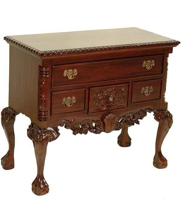commode low boy en acajou style anglais chippendale victorien meuble bois ebay. Black Bedroom Furniture Sets. Home Design Ideas