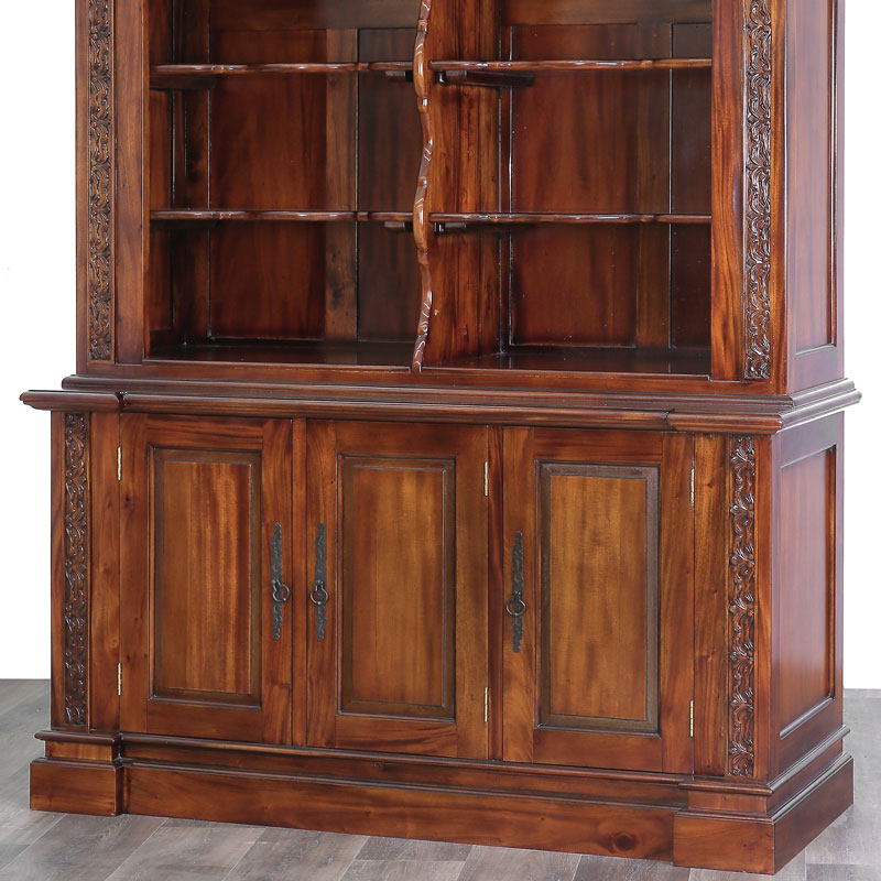 bibliotheque buffet style anglais victorien etageres en acajou massif ebay. Black Bedroom Furniture Sets. Home Design Ideas