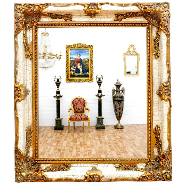 vintage wandspiegel gold spiegel antik wei luxus frisierspiegel edel ebay. Black Bedroom Furniture Sets. Home Design Ideas